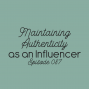 Artwork for Ep. 087: Maintaining Authenticity as an Influencer