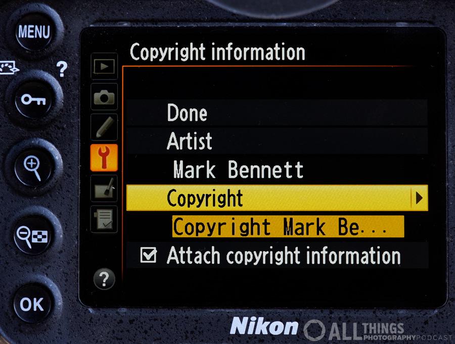 Nikon screen