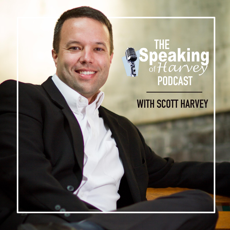 The Speaking of Harvey Podcast show art