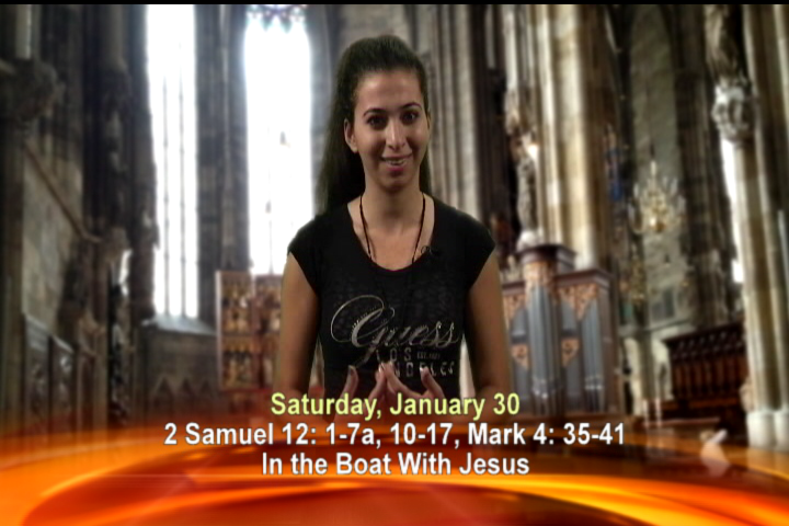 Artwork for Saturday, Jan 30th Today's Topic: In the boat with Jesus
