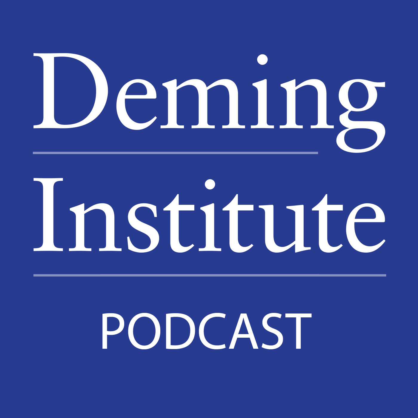 "Artwork for Kevin Cahill, Executive Director of The W. Edwards Deming Institute®, ""Updates and Previews of the 25th Anniversary of The Deming Institute"""