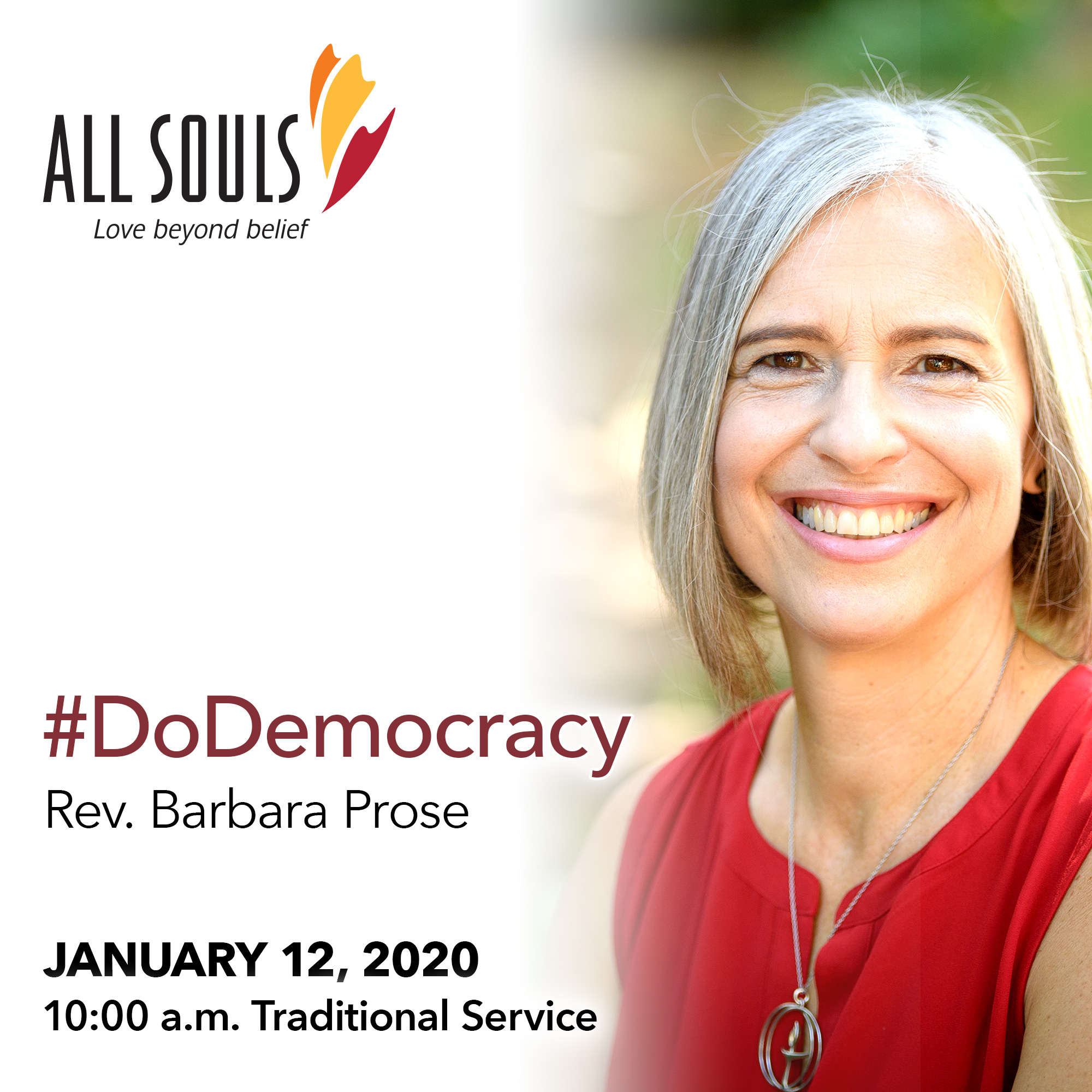 '#DoDemocracy' - A sermon by Rev. Barbara Prose (Traditional Service) show art