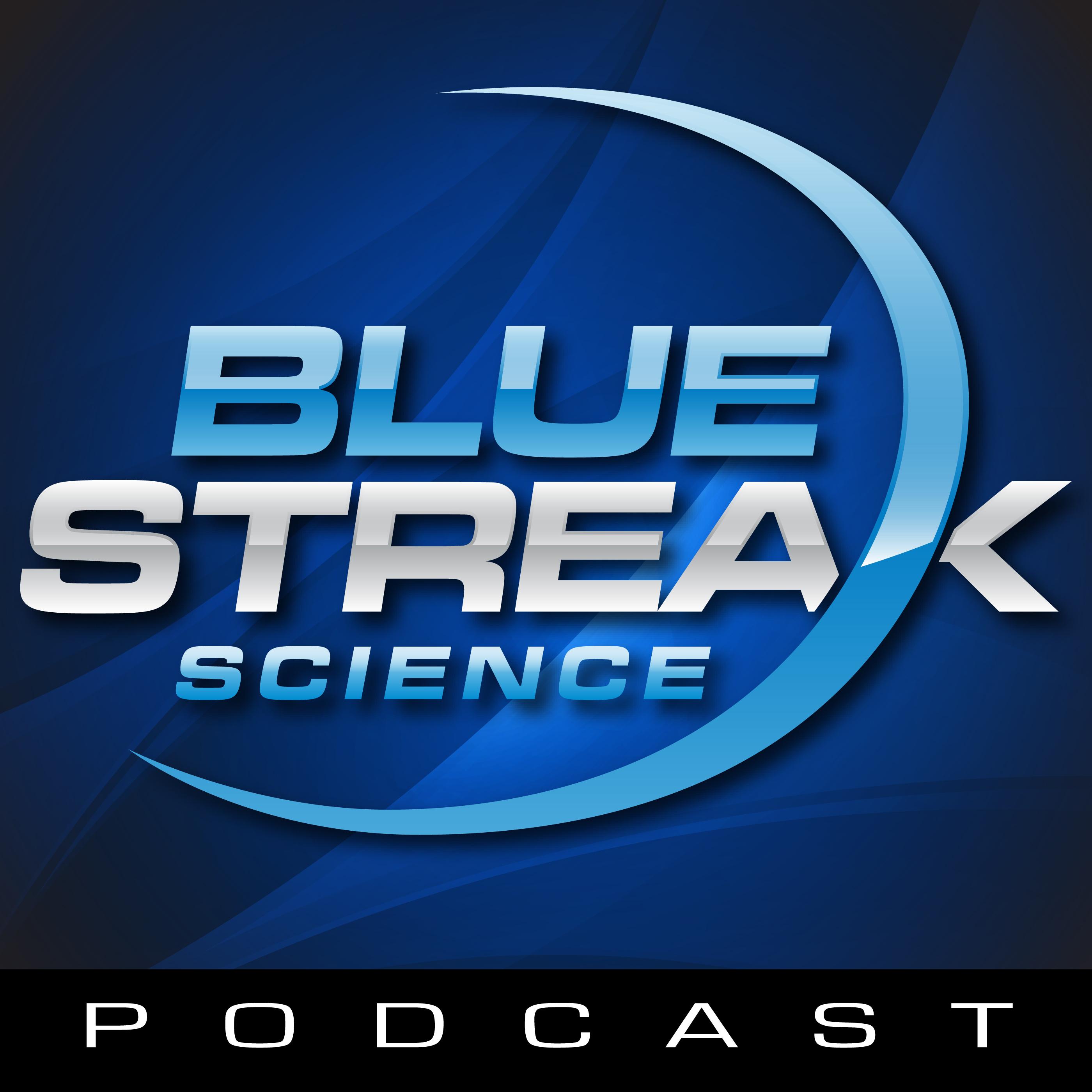 Blue Streak Science Podcast show art