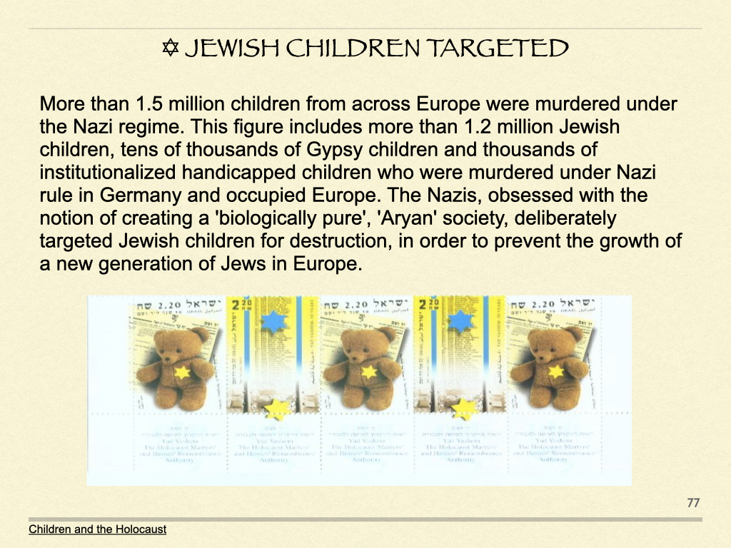 Jewish Children Targeted