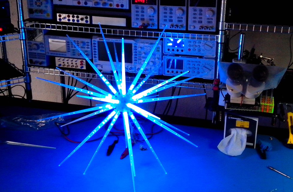 LED icicle ball full on
