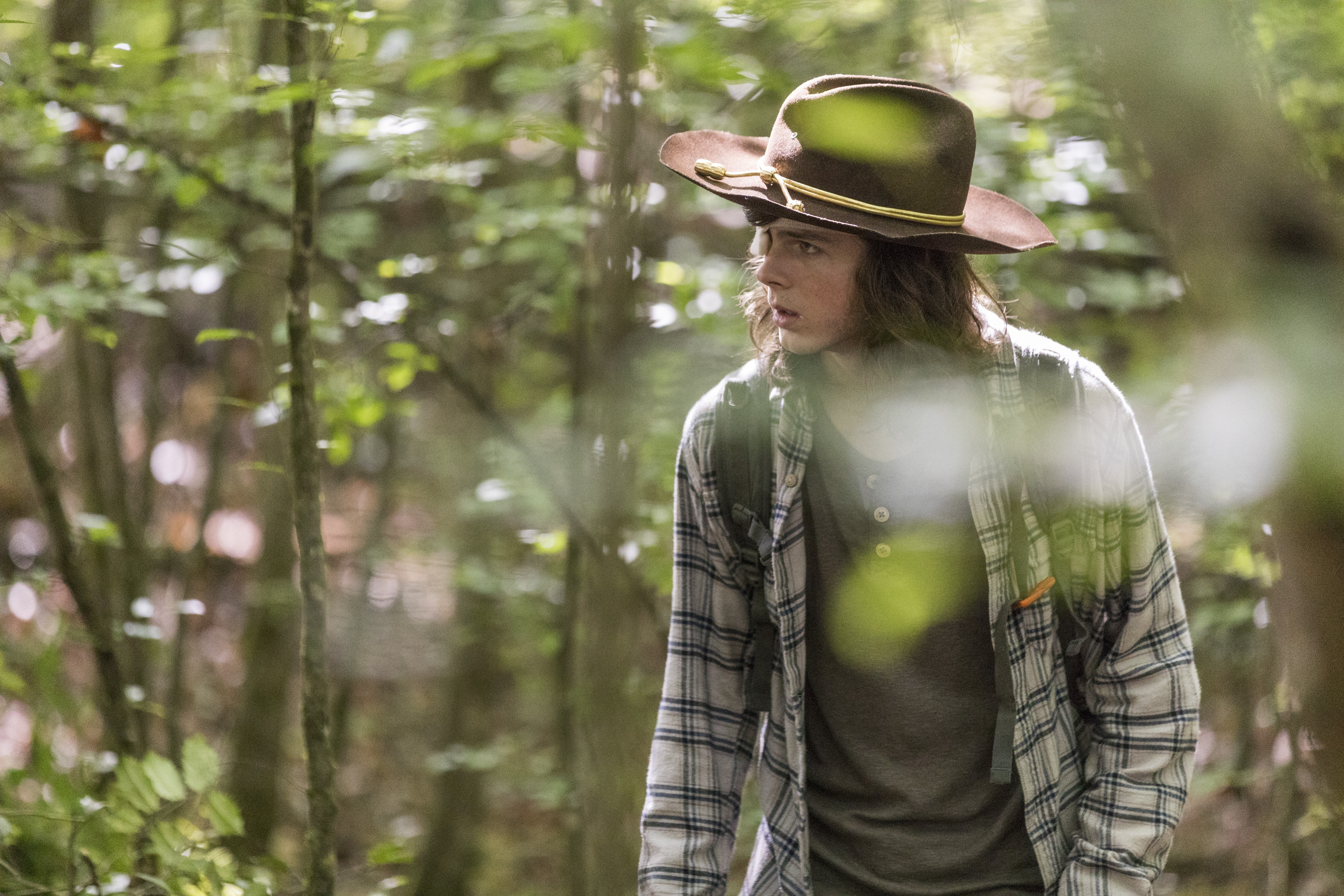 Carl in the woods