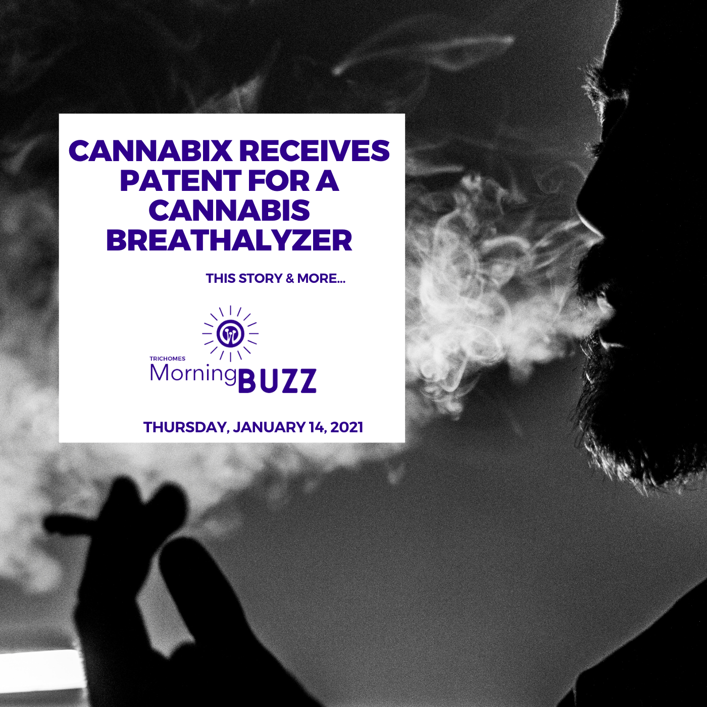 Cannabix Receives Patent for a Cannabis Breathalyzer | TRICHOMES Morning Buzz show art