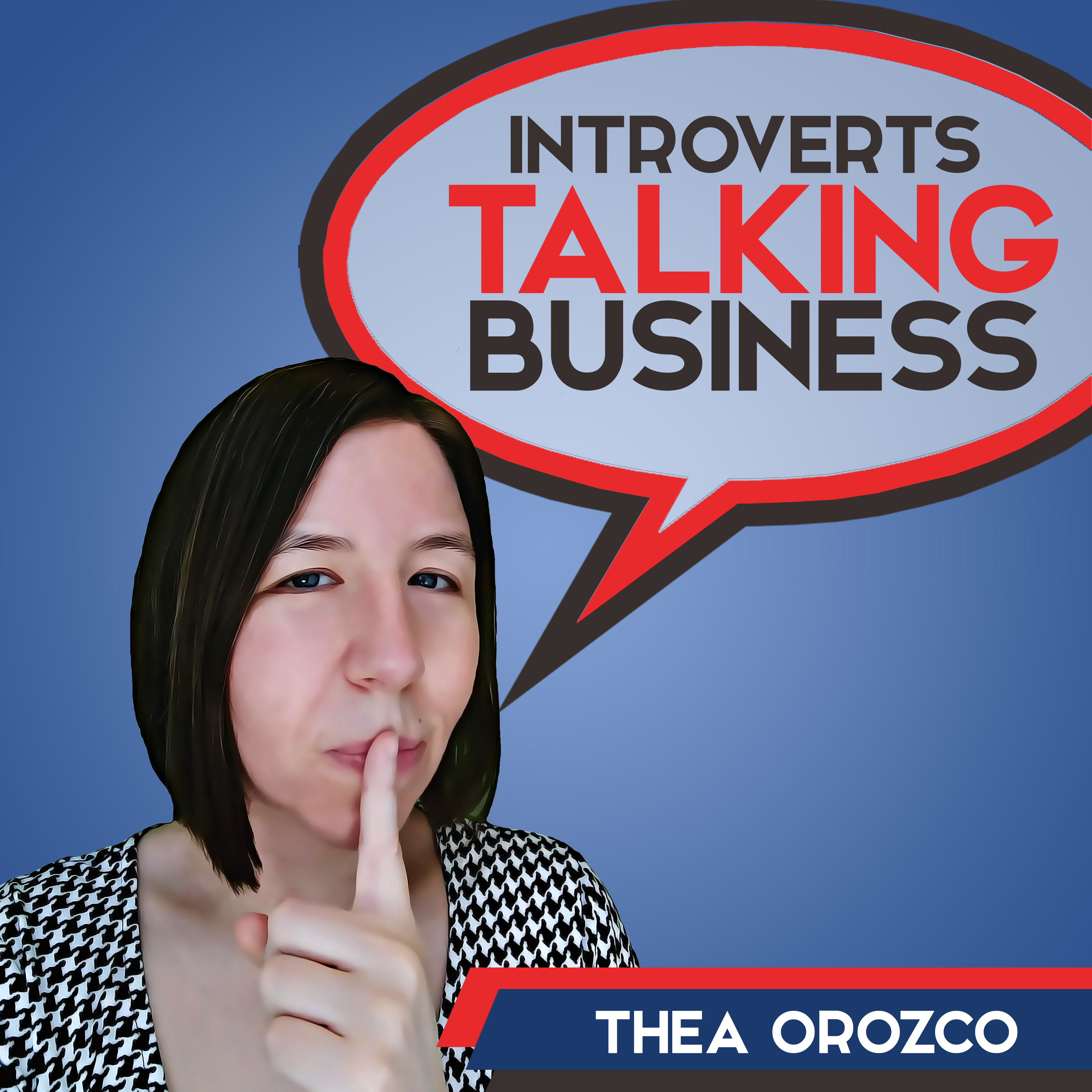 Introverts Talking Business show art