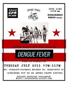 7-12-11 Punk Life Zine presents: Dengue Fever