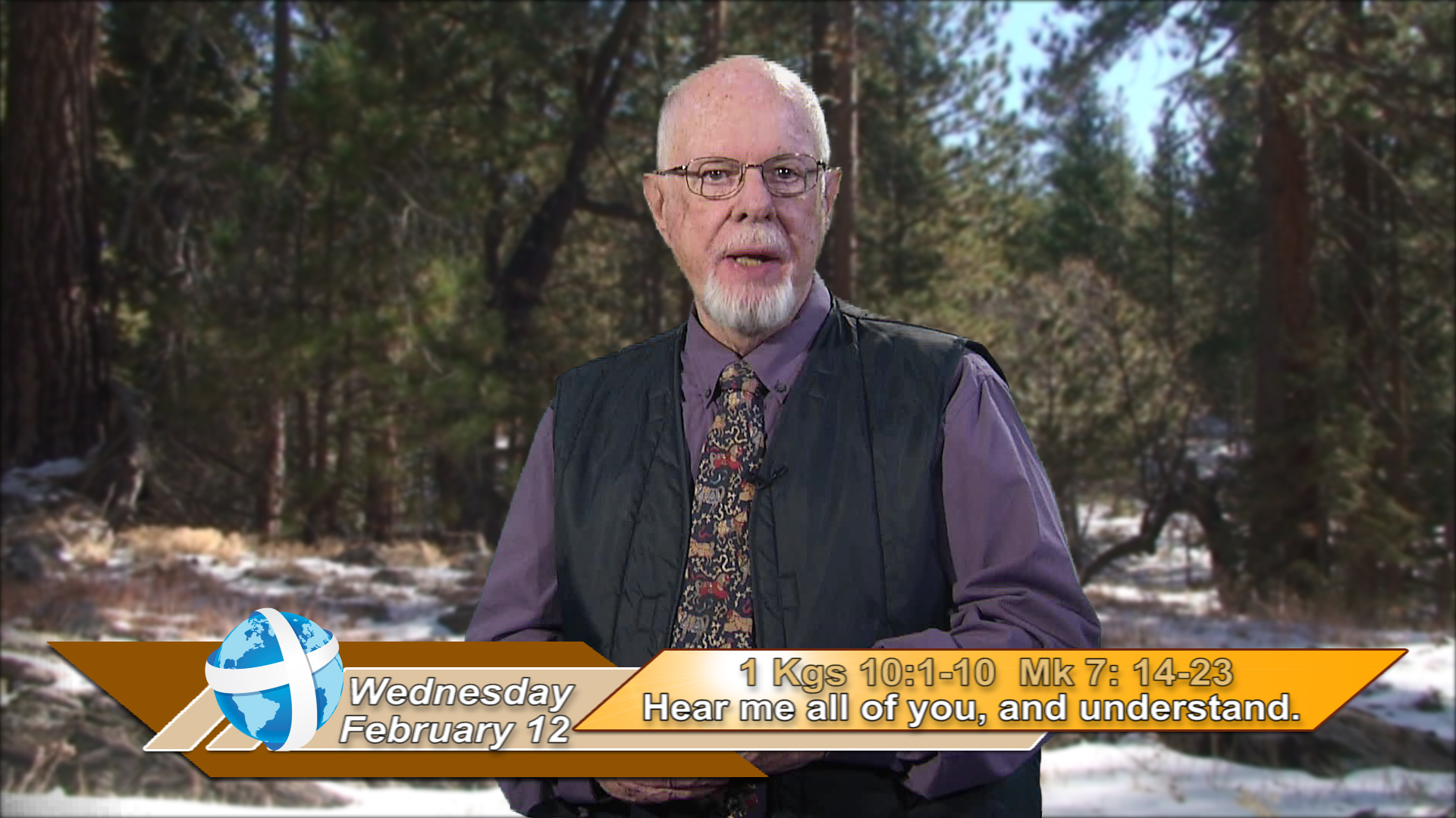 """Artwork for iGod Today with Br. Steve Pardy, SVD;  Today's topic:   """"Hear me all of you, and understand."""""""