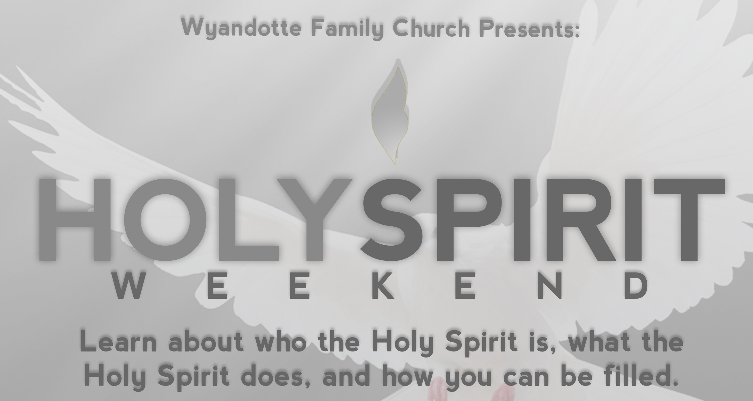 Holy Spirit Weekend 2016 Part 1