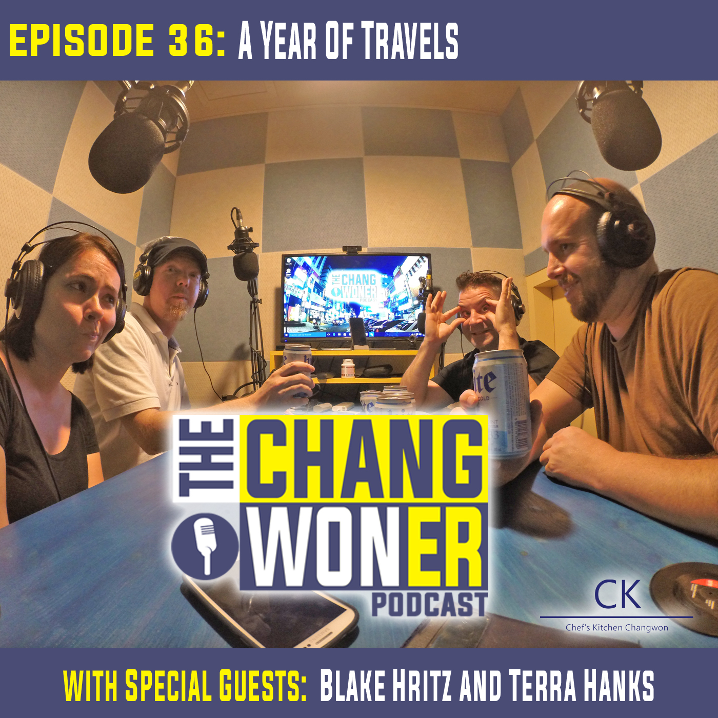 Artwork for A Year of Travels Via South Korea and Back Again. -guests Blake Hritz and Terra Hanks (Ep 36)