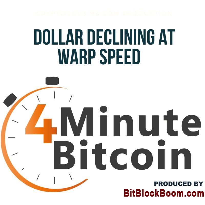 Dollar Declining At Warp Speed, How Will Bitcoin Respond?