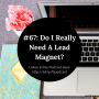 Artwork for #67: Do I Really Need A Lead Magnet?