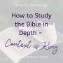 Artwork for How to Study the Bible in Depth - Context is King - Episode 112