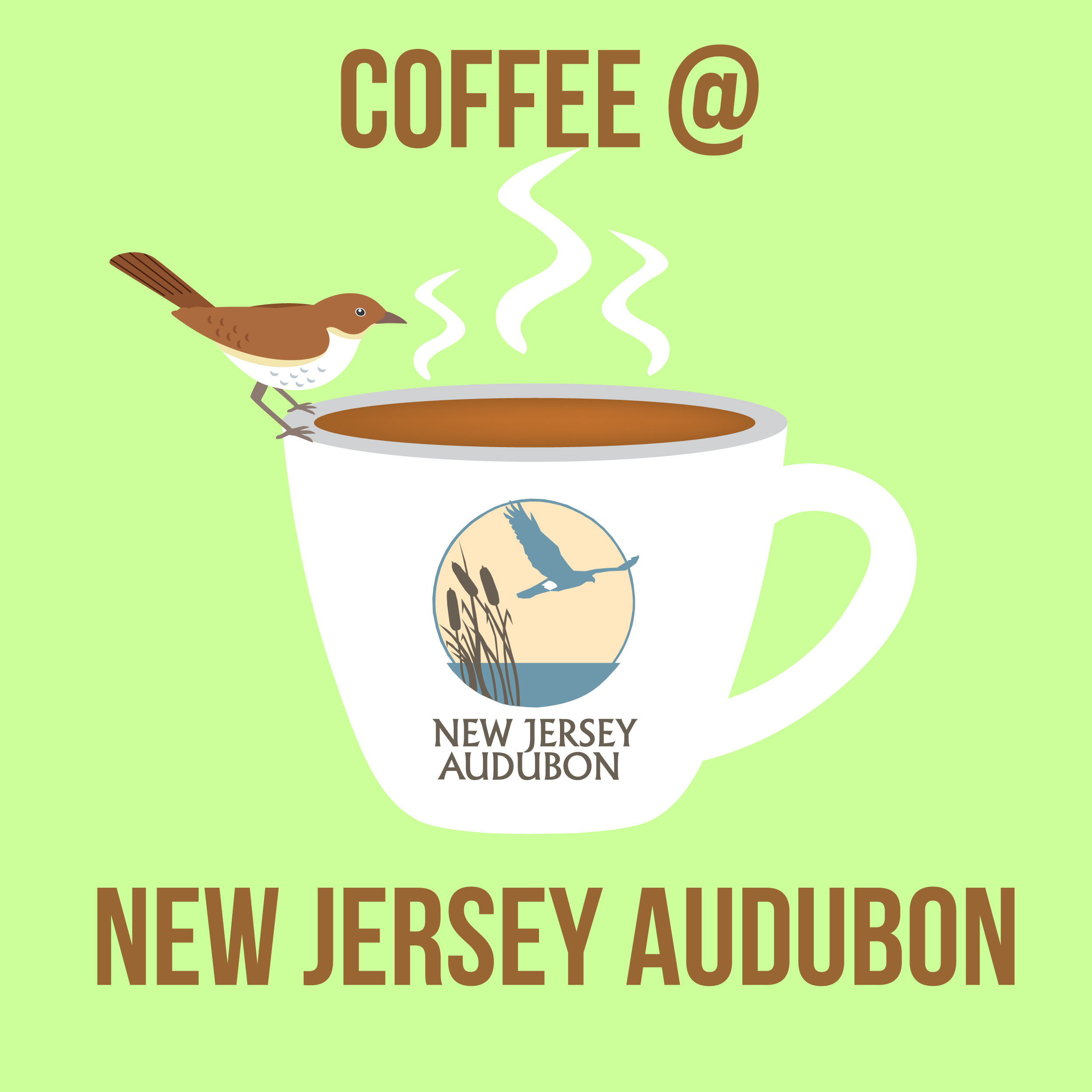 Coffee At New Jersey Audubon show art