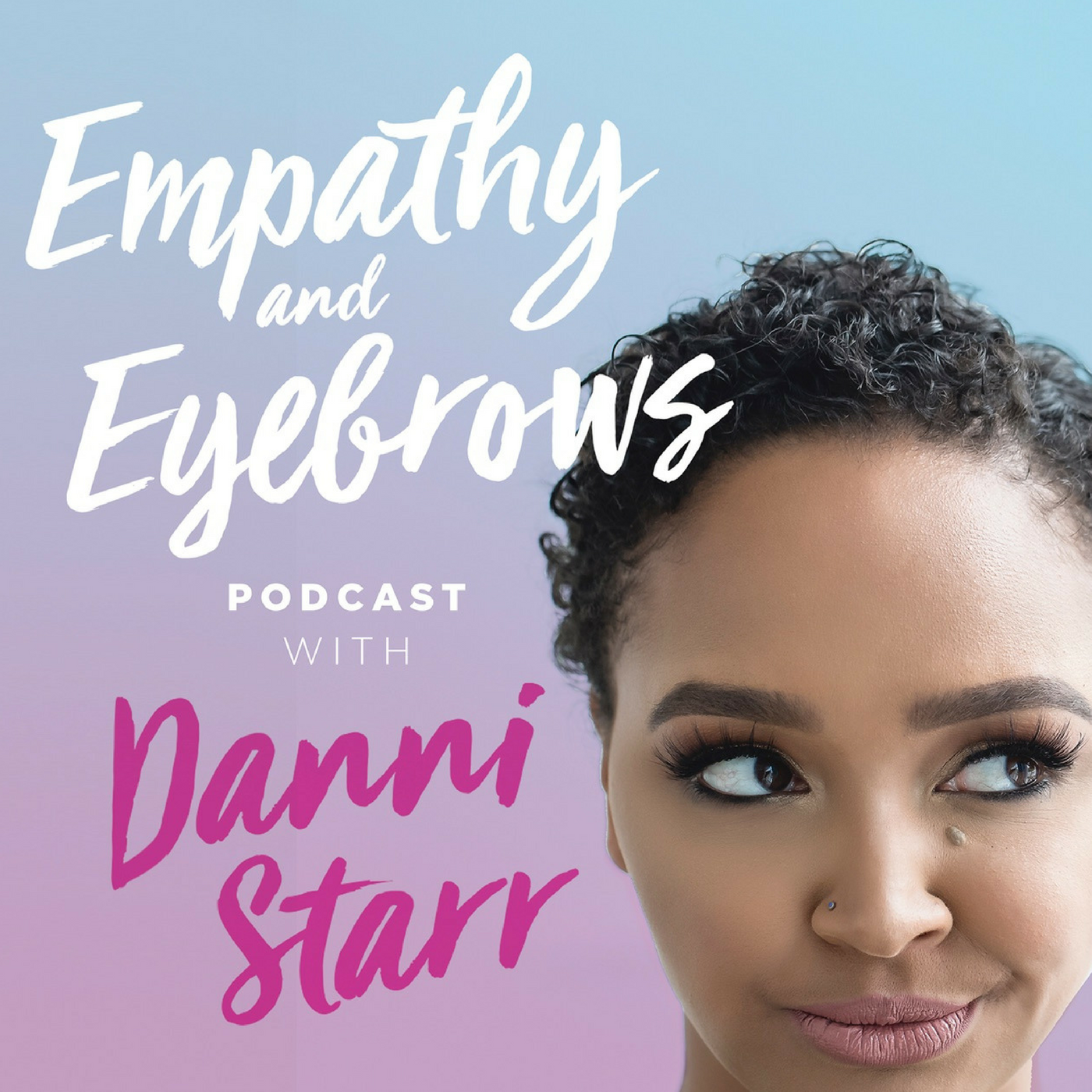 Empathy and Eyebrows Podcast show art