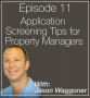Artwork for 011: Application Screening Tips for Property Managers with Jason Waggoner