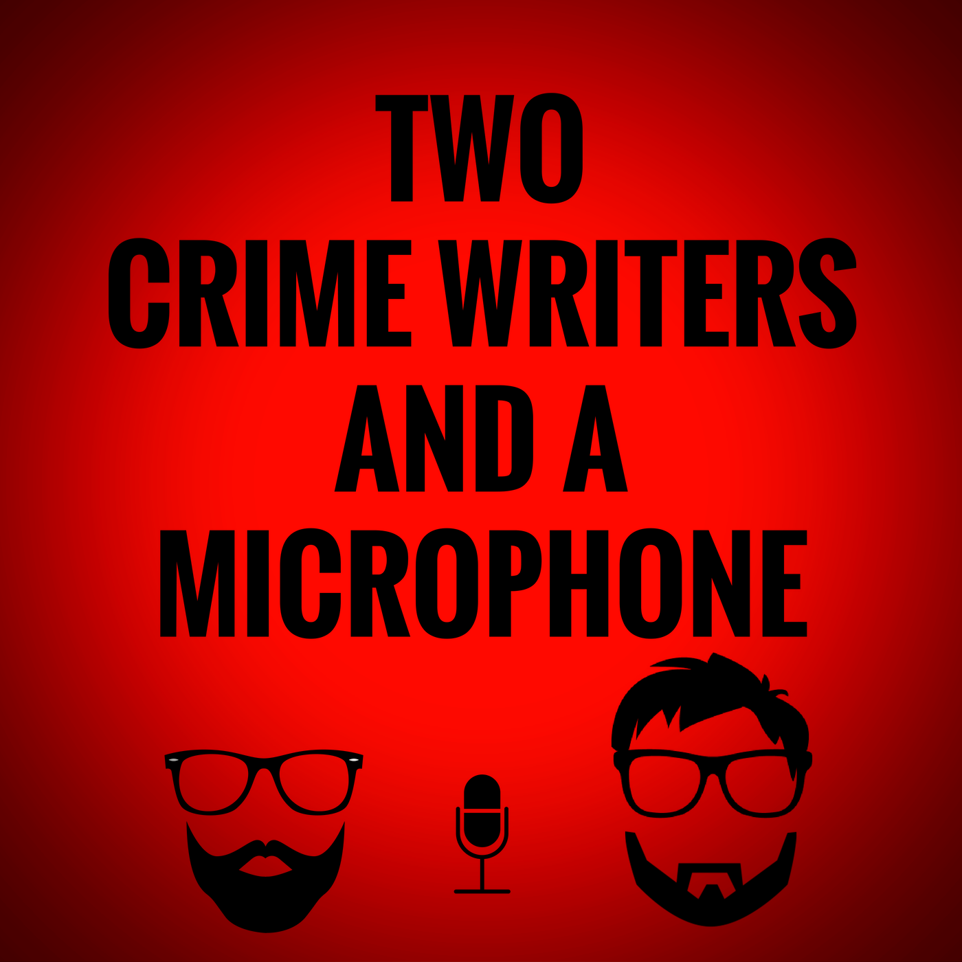 Two Crime Writers And A Microphone show art