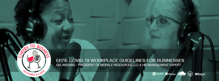 Gia Wiggins talking COVID-19 in the workplace on Cheers To Business