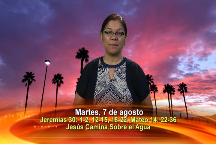 Artwork for Dios te Habla con Angela Valencia;  Tema el hoy: Jesús camina sobre el agua