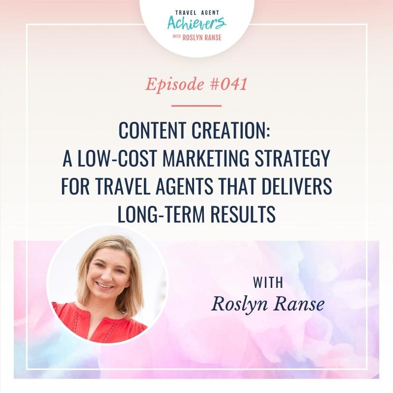 Artwork for Content Creation: A Low-cost Marketing Strategy for travel agents that delivers long-term results
