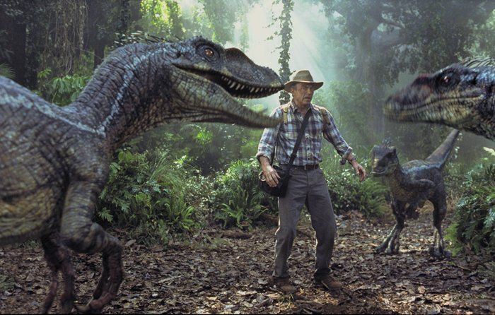 Jurassic Park 3, Sam Neill and the raptors