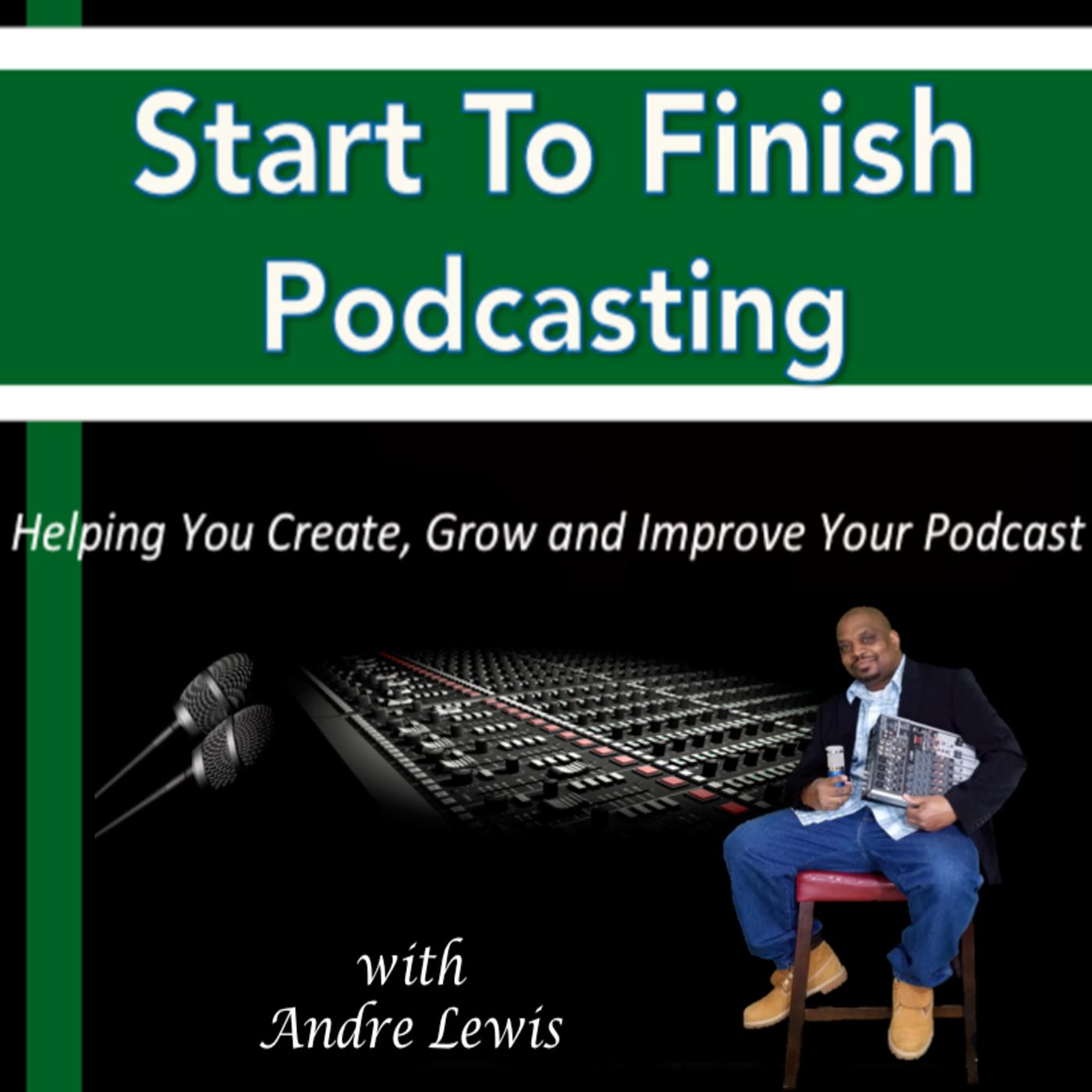 starttofinishpodcasting's podcast show art