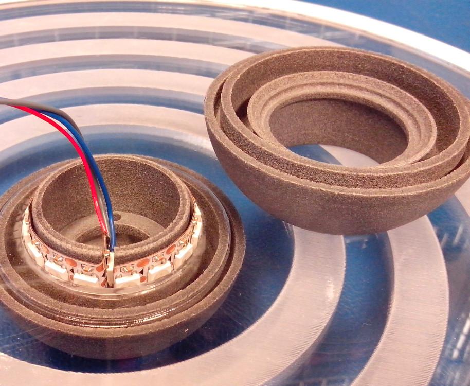 LEDstrip in sphere