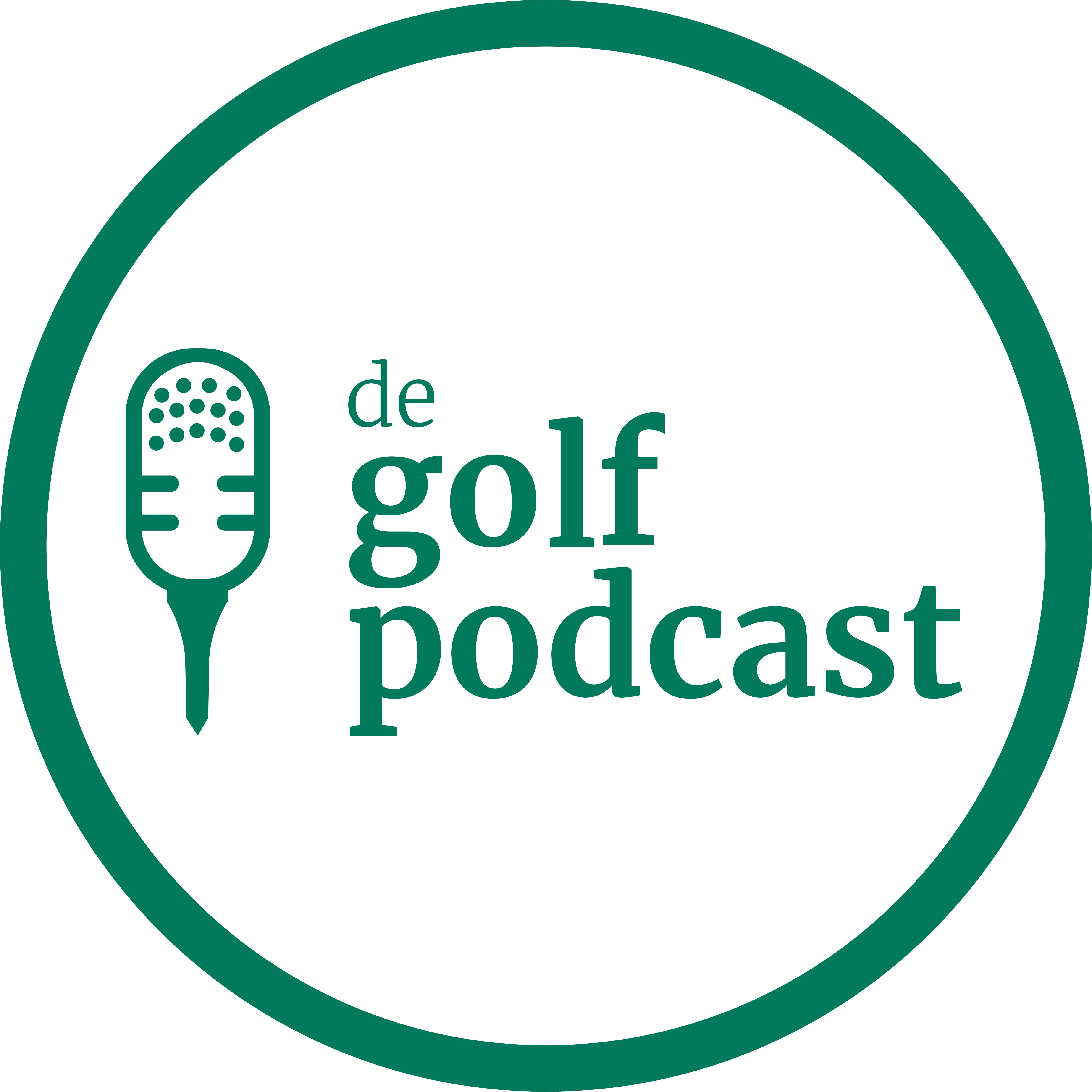 De Golfpodcast show art