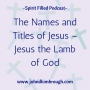 Artwork for The Names and Titles of Jesus – Jesus the Lamb of God - Episode 105