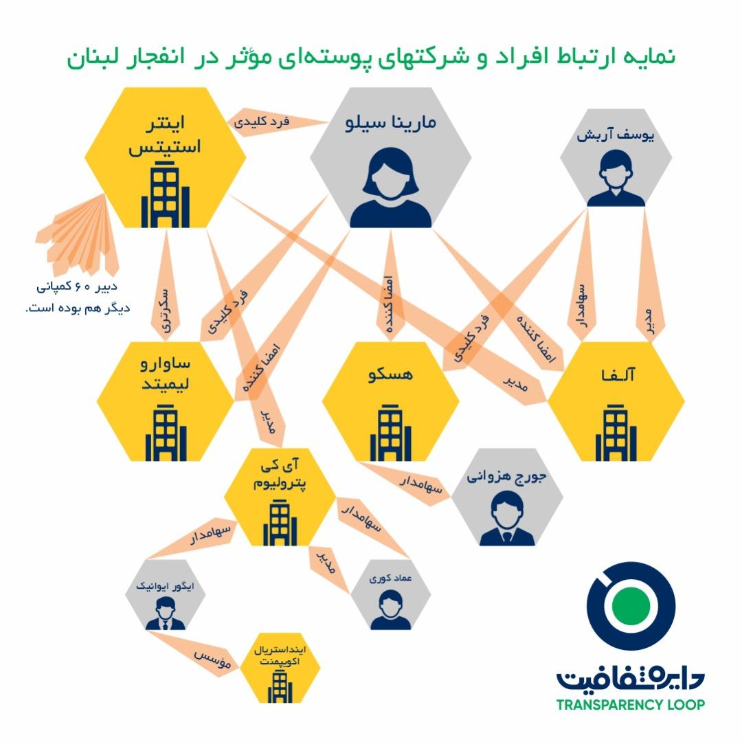 اینفوگرافیک شبکه شرکتهای پوستهای
