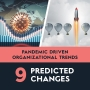 Artwork for Pandemic Driven Organizational Trends; nine predicted changes