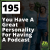 195 You Have A Great Personality For Having A Podcast show art