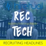 Artwork for Recruiting Headlines from CultureAmp, Hirevue, Stoke, TripleByte and JazzHR