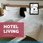 Artwork for Ep 19; Hotel Living