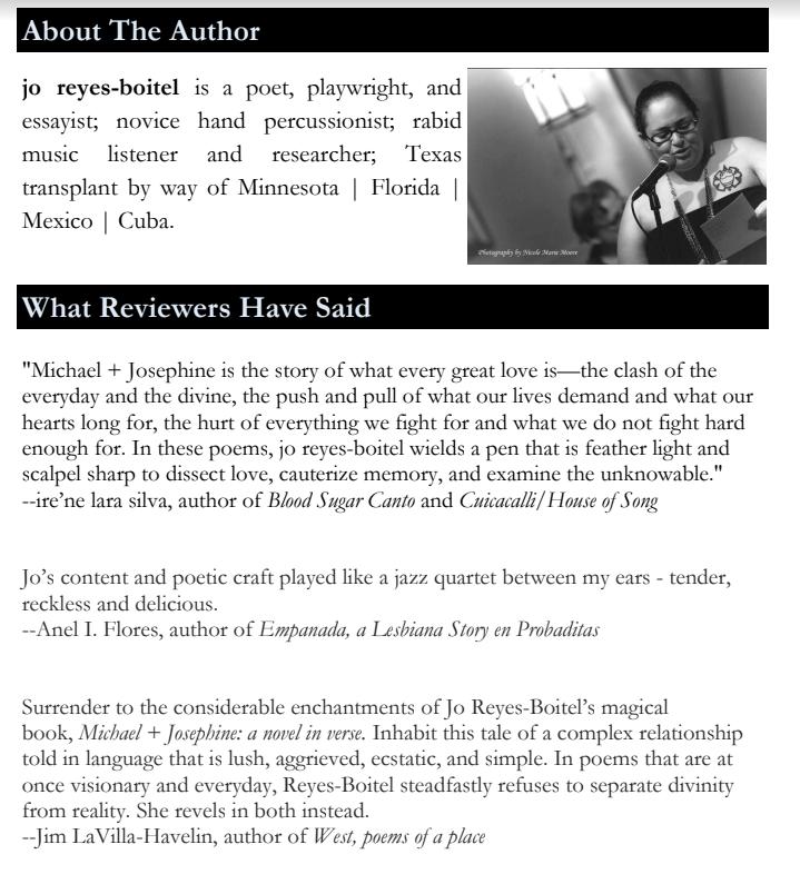 Jo Reyes-Boitel's book reviews
