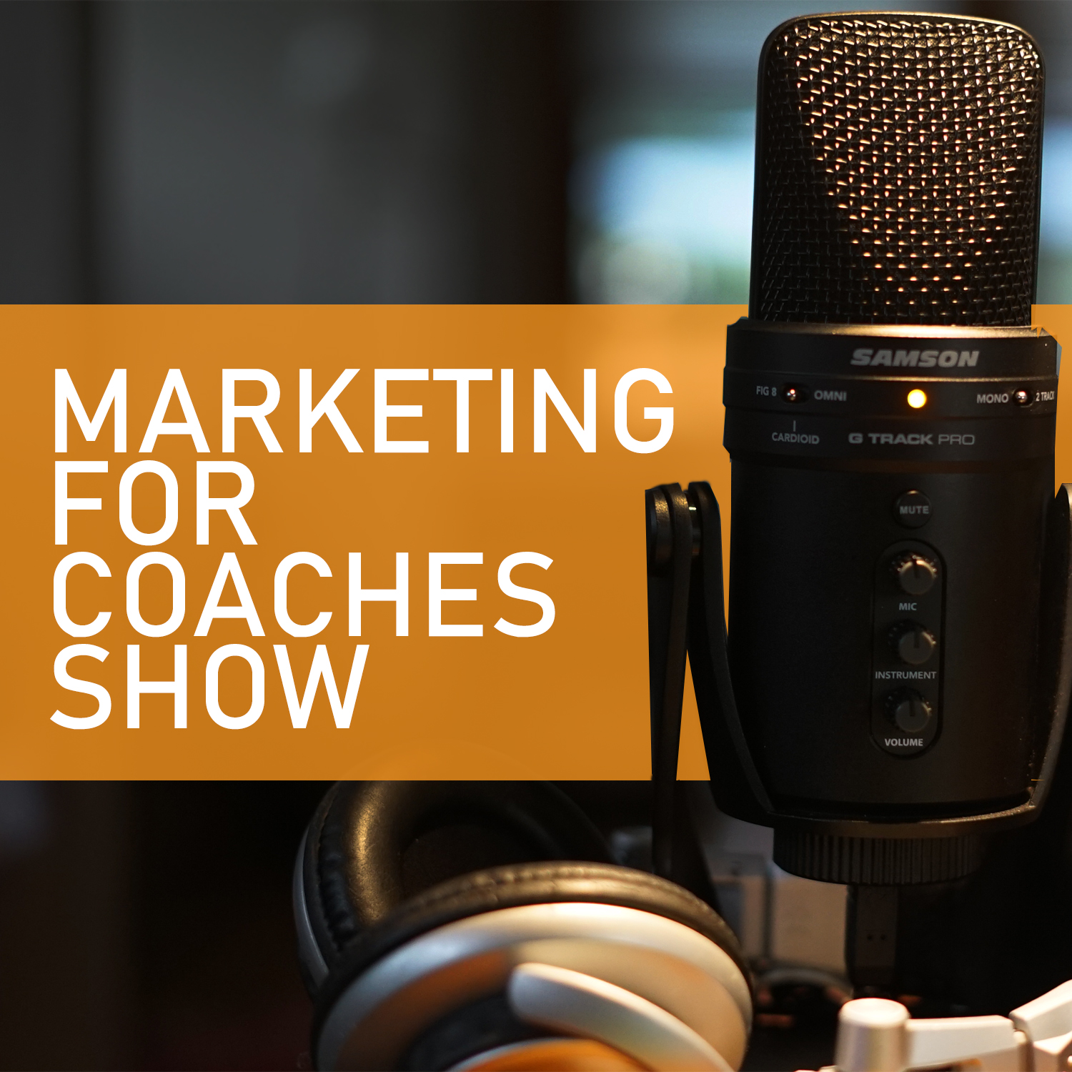 Marketing For Coaches podcast show art