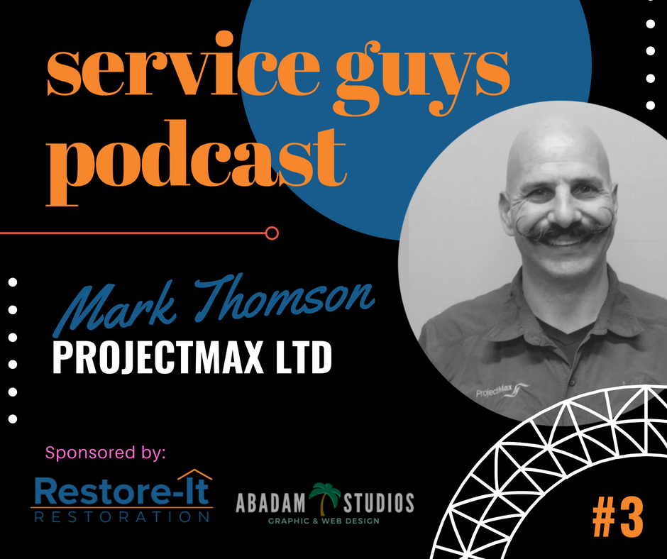 Service Guys Podcast. Restore-It Restoration with Lonnie Beauchamp. Abadam Studios with Producer Ruel Abadam. Mark Thomson on Clean Water and Sewer Rehabilitation