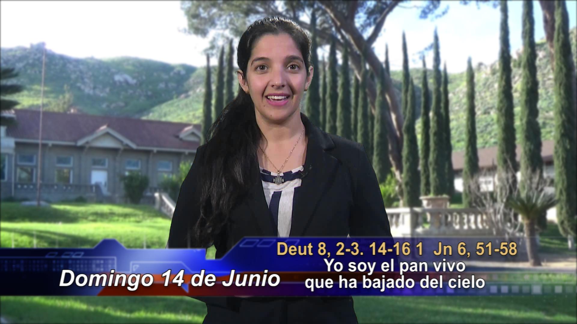 """Artwork for Dios te Habla con María Nieves Petrusek;  Tema: Corpus Christi. """"Yo soy el pan vivo que ha bajado del cielo"""""""