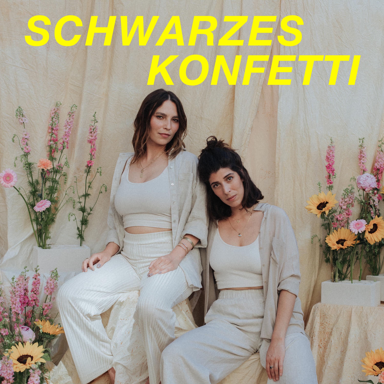 Schwarzes Konfetti show art