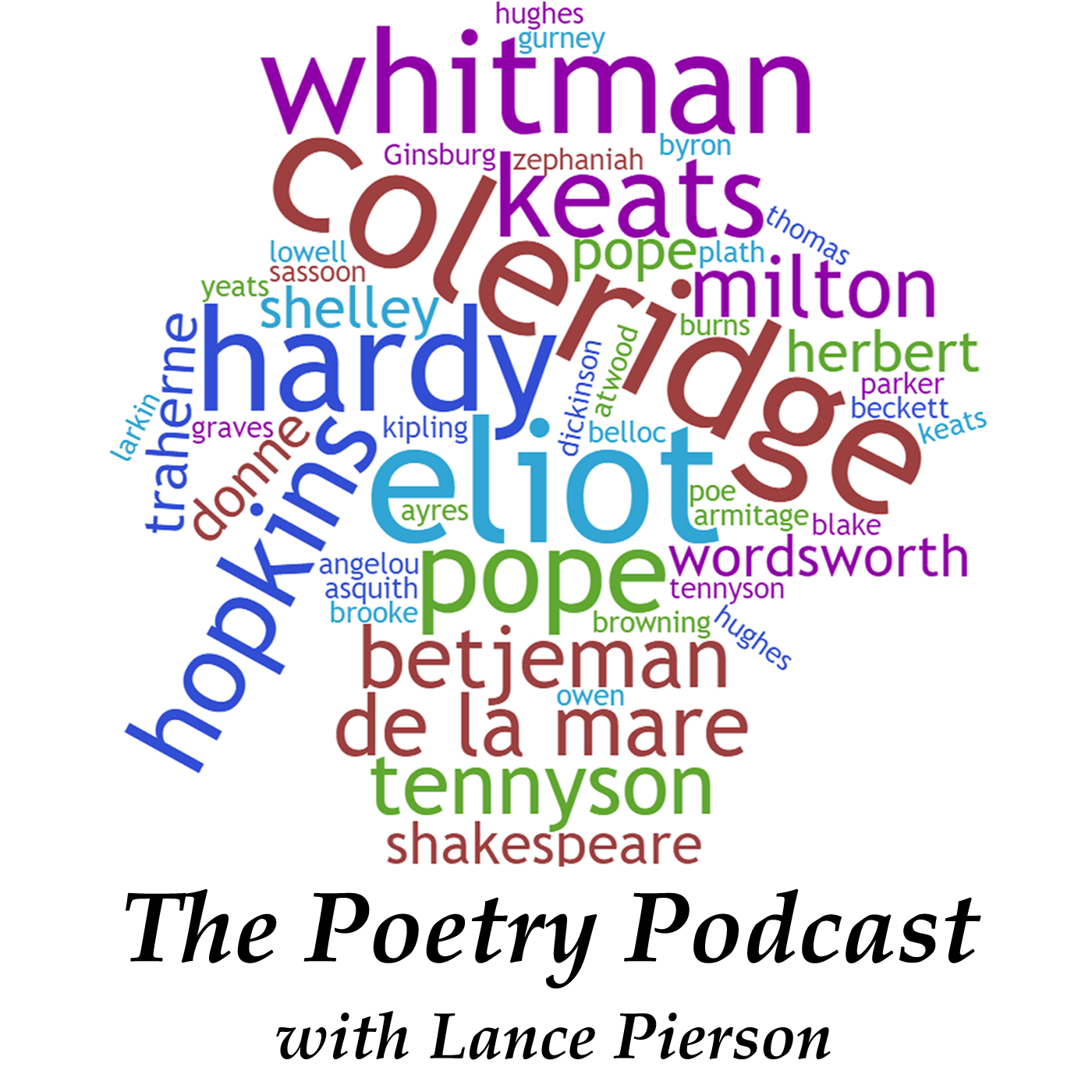 The Poetry Podcast with Lance Pierson show art