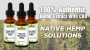 Artwork for Health Ranger introduces lab-verified, 100% authentic hemp extract with CBD: Native Hemp Solutions