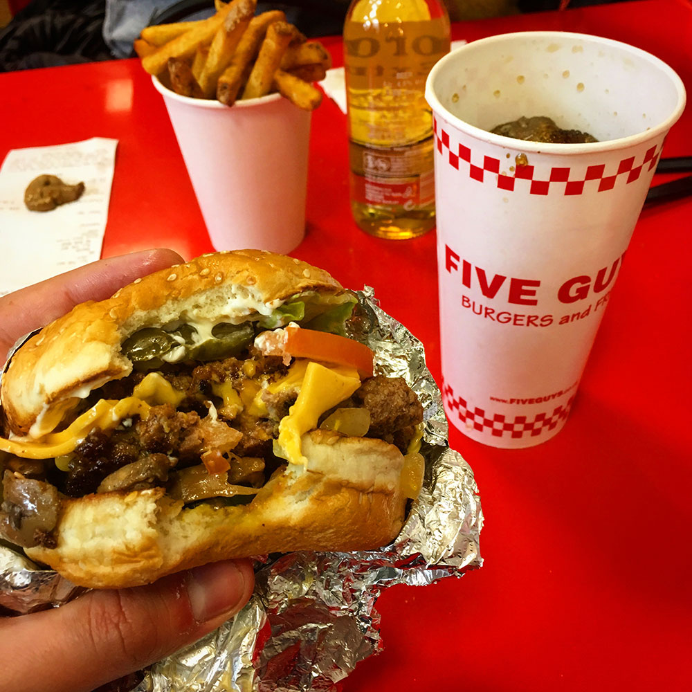 Hamburguesa de Five Guys
