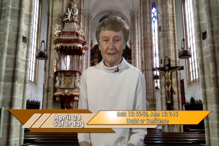 Artwork for iGod Today with Sr. Jeanne Harris, OP;  Today's topic:   Doubt or Confidence