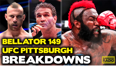 Submission Radio #82 TJ Dillashaw, Ben Rothwell, Tony Ferguson + Bellator 149 - UFC Pittsburgh