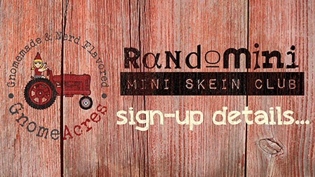 Artwork for 2016 RANDOMINI Mini Skein Club Details