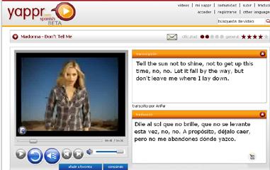 Yappr, la divertida manera de aprender inglés a través de videos