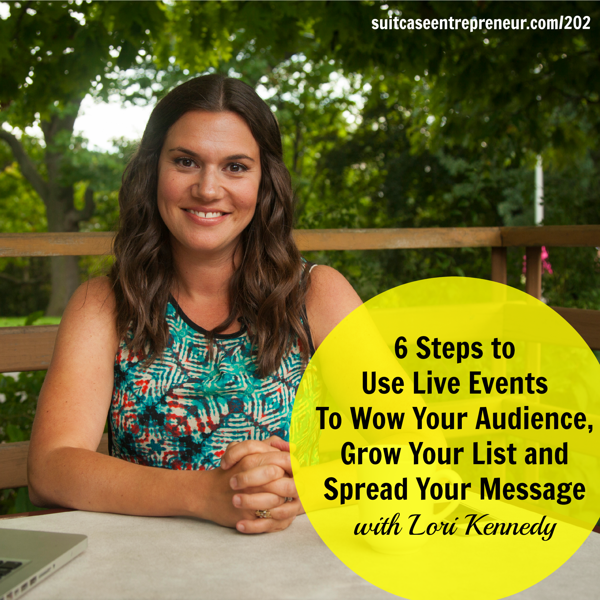 [202] 6 Steps to Use Live Events To Wow Your Audience, Grow Your List and Spread Your Message with Lori Kennedy