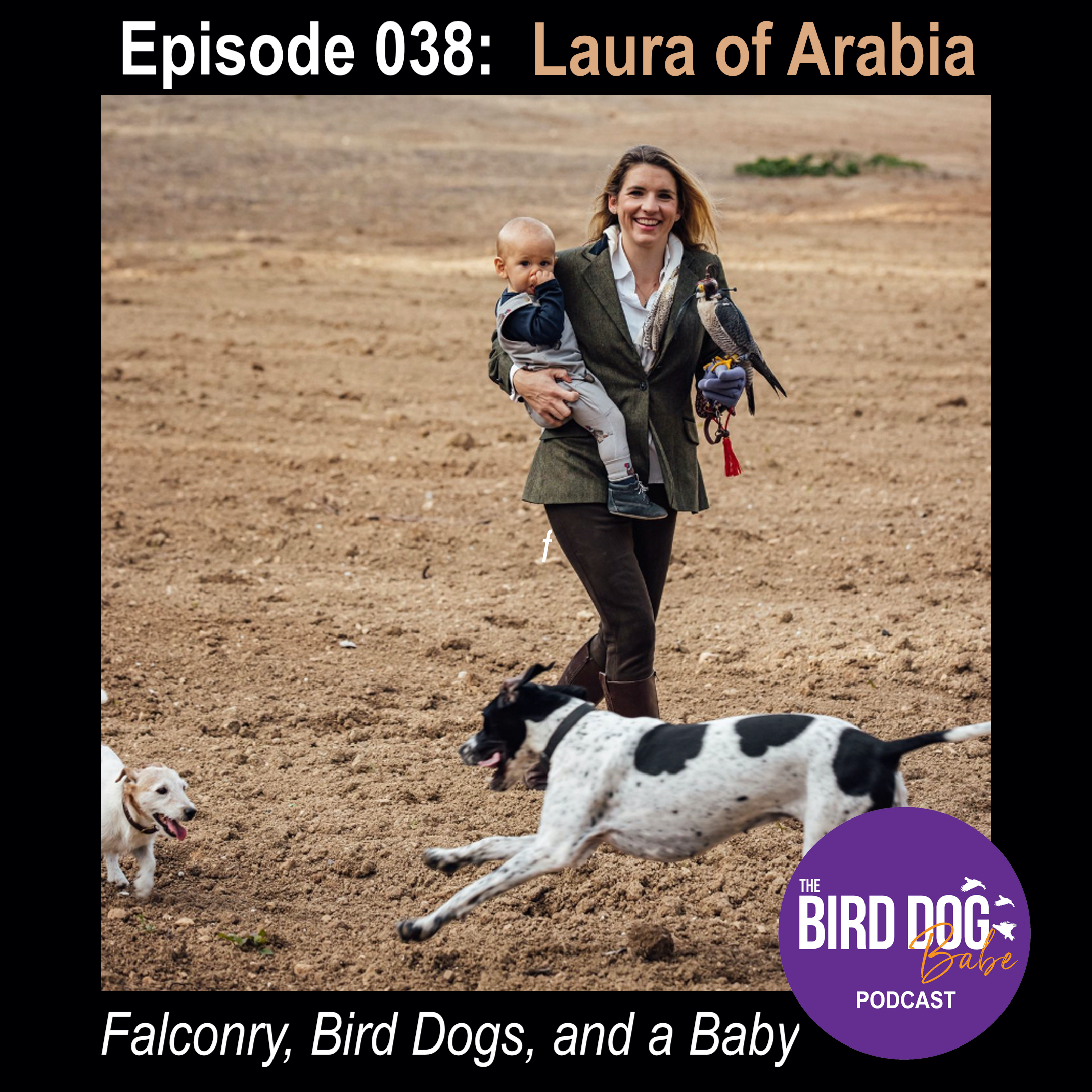 Episode 038: Falconry, Bird Dogs and a Baby with Laura of Arabia